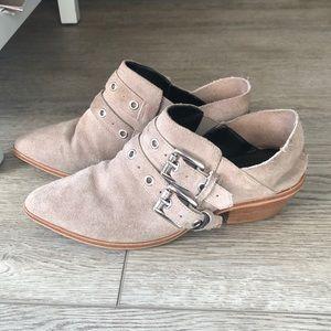 Rebecca minkoff leather booties sz 7